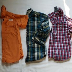 Lot of 3 boys button down shirts